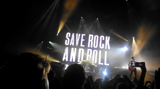 "Fall Out Boy performs their ""Save Rock & Roll"" album live for their headlining comeback tour. Fans went wild at the America's Cup Pavilion show on September 21, 2013. PC: Megumi Kamikawa"
