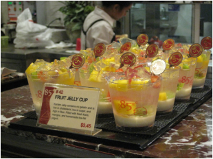 "On top of the many bread choices, 85°C Bakery offers various dessert choices, such as the Fruit Jelly Cup. According to the company's website, 85°C Bakery makes more than twenty different varieties of cakes alone. ""My favorite 2 drinks would be Sea Salt Jasmine, and 85C Coffee Jelly Milk Tea,"" Choiu said. ""Their Black Forrest and Tiramisu cakes are pretty good too."""