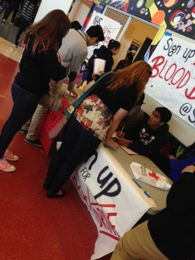 "Students at American High School are dedicating their lunch time to sign up for the blood drive and write a letter to Santa. ""Five minutes of my time can make a person's day,"" junior Bibihawa Mohabbat said. ""It is an easy thing for us to do and it is for a good cause, so why not help someone out."""