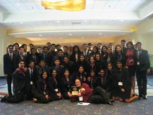 "The DECA team celebrates their numerous victories at SCDC. Members who placed within the top four of each category will move onto the international conference. ""When I started working with DECA, no one knew anything about it. Over the last two years, many people have invested in the effort to make it grow, from my amazing officer team to Mr. Bailey,"" Kapshikar said. ""It's been quite a journey but I hope that DECA now has a foundation that will allow it to thrive for years to come."" PC: Katherine Cui"