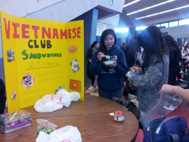 "Many clubs made colorful posters and signs to turn heads and draw students to their stands.  Most of the time, the foods served were thematic with the club's corresponding tri-fold.  ""I really enjoyed looking at all of the signs, I definitely learned something new every day this week,"" senior Shantanu Patil said."