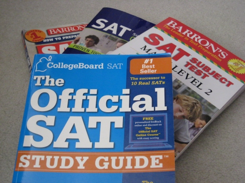 "Prep books are available for all SAT's offered for both the SAT I and the SAT II subject tests. Many students use these books as main sources to study for the tests. ""I was originally planning on using my older sisters' materials to study,"" Wu said. ""I'm still going to refer to them, but I'm probably going to have to buy new materials now too."" PC: Priscilla Ng"