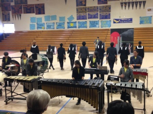 "The Winter Percussion performing their show, written by captain Alan Cheng. ""Best part about the season was writing the music and seeing it grow into something overflowing with passion,"" Cheng said."