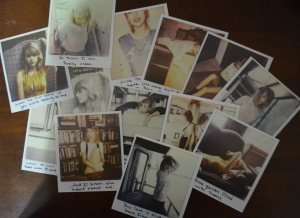 Taylor Swift's deluxe album comes with a set of 13 polaroids. The Target version contains 3 new songs as well as 3 voice memos.
