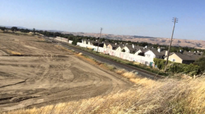 Large space of area in the Ardenwood area, a former vast mustard field, upon which KB Homes will build up to 500 houses.
